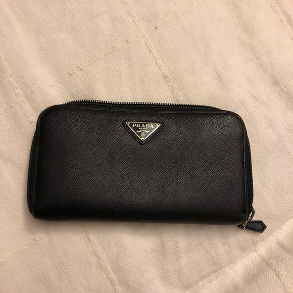 bcecd3c14ee2 Bags | Authentic Black Prada Wallet | Poshmark